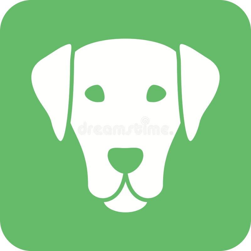 Visage de chien illustration de vecteur