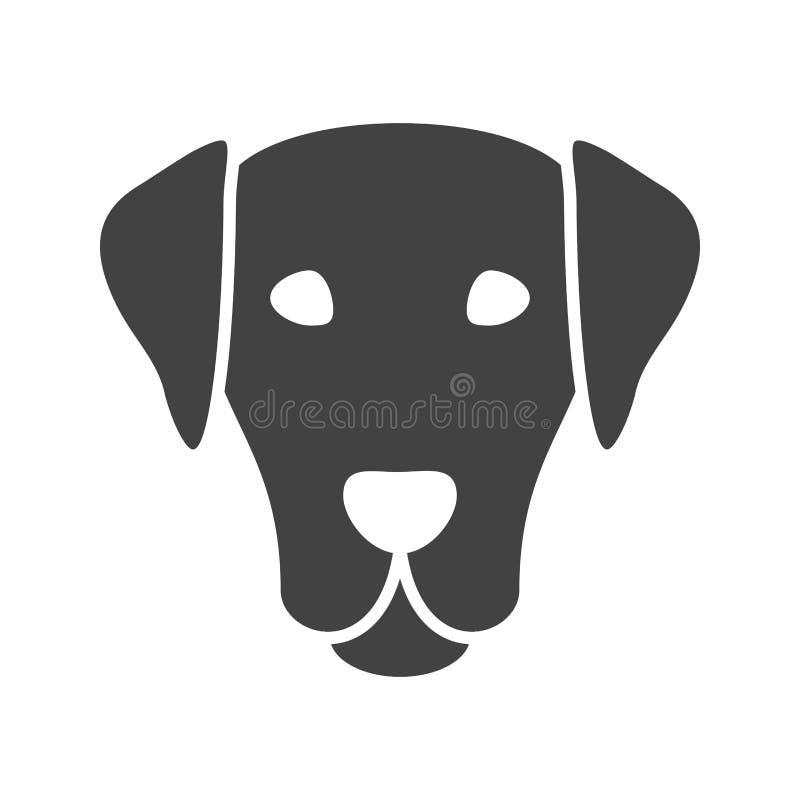 Visage de chien illustration libre de droits