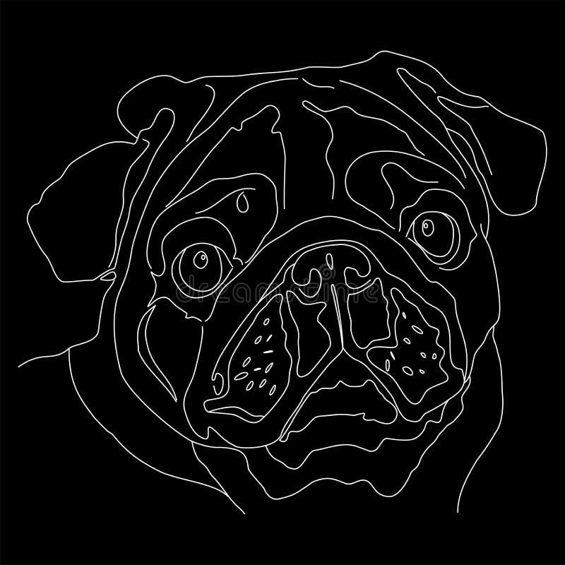 Visage de chien de roquet photo stock