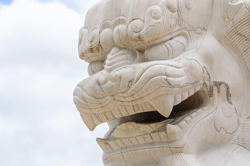 Visage de Chinois Lion Statue images libres de droits