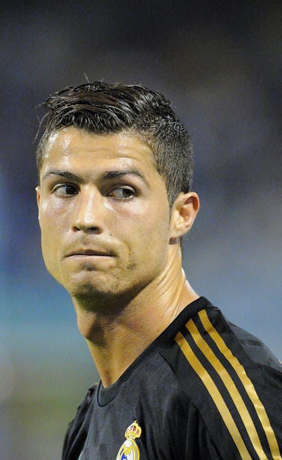Visage de Cristiano Ronaldo photographie stock libre de droits