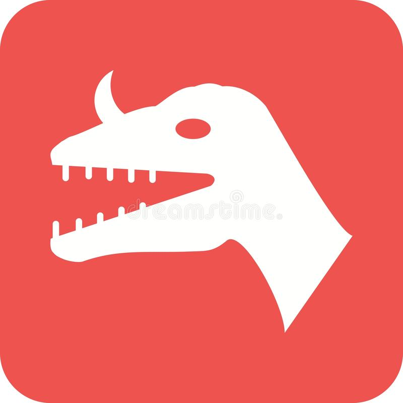 Visage de dinosaure illustration stock