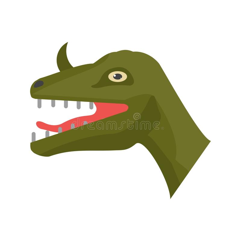 Visage de dinosaure illustration libre de droits