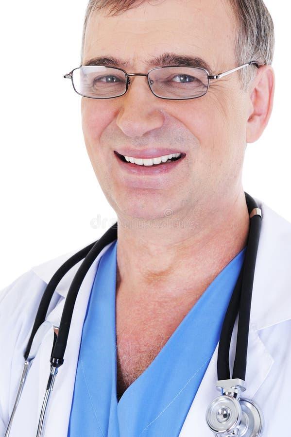 visage de docteur heureux photographie stock libre de droits