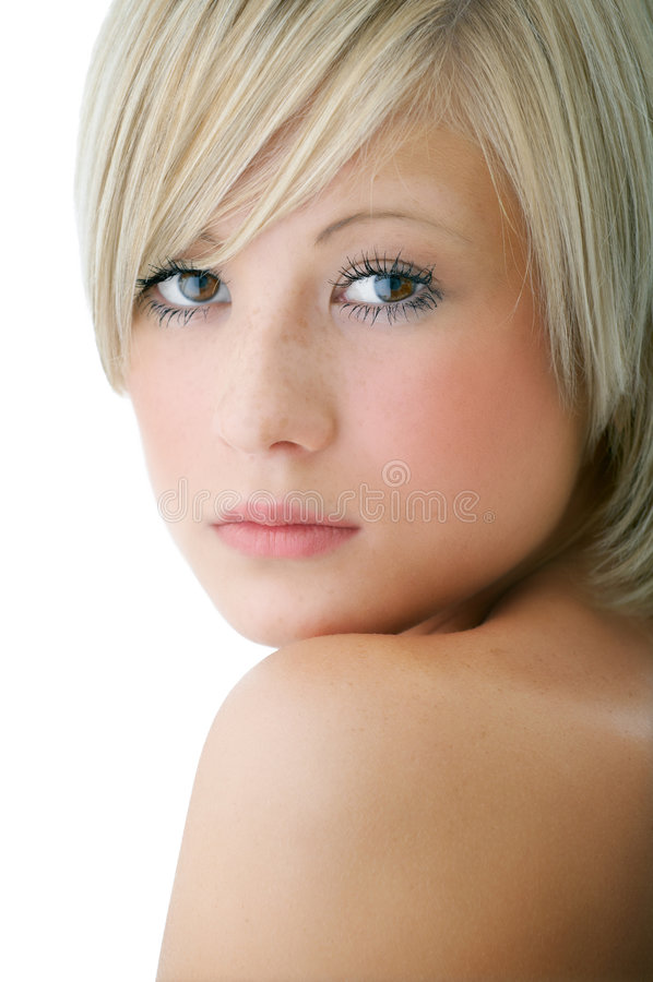 Visage de femme de beauté image stock