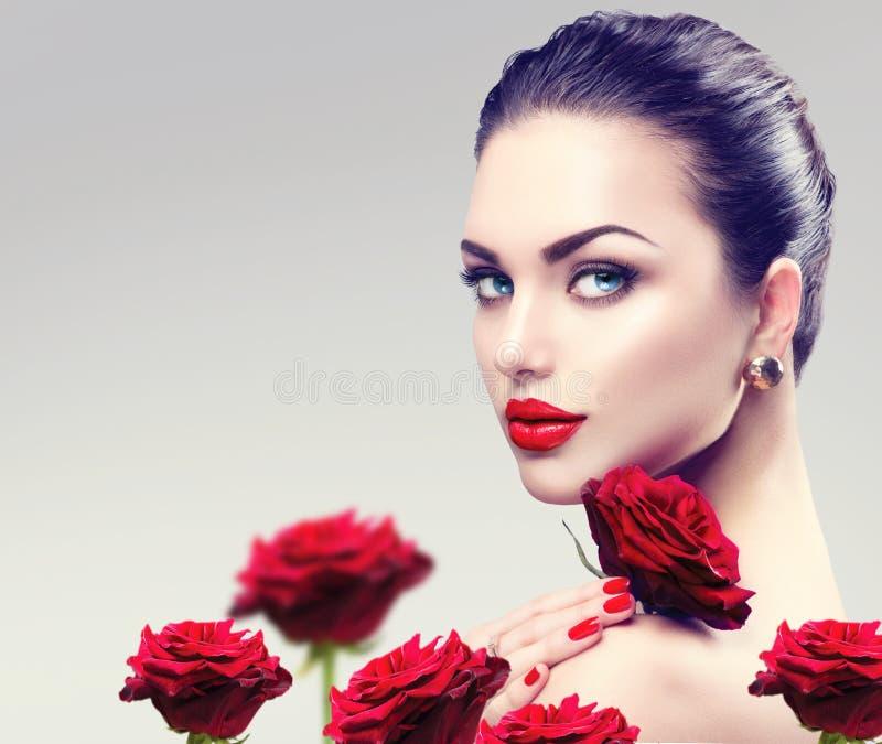 Visage de femme de mannequin de beauté photos stock