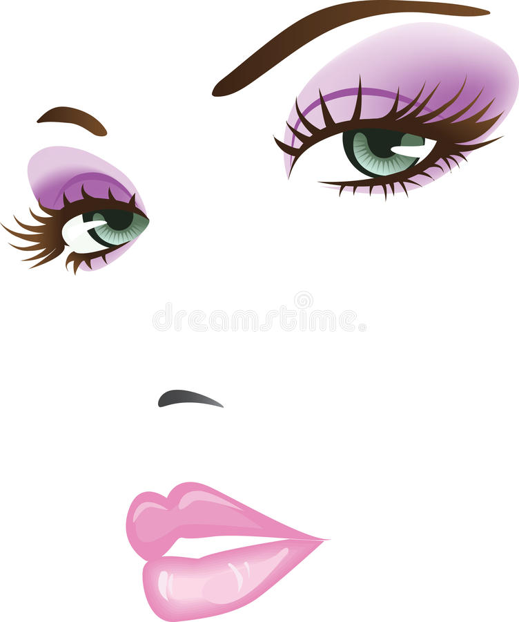 Visage de fille de beauté illustration libre de droits