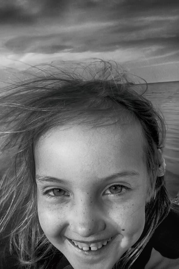 Visage de fille joyeuse images libres de droits
