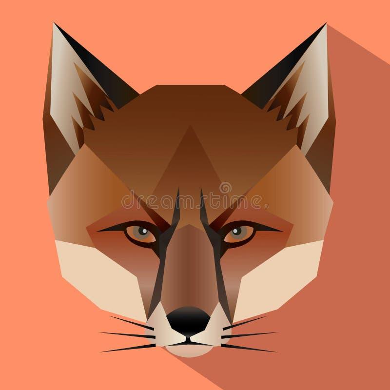 Visage de Fox avec la conception plate images stock