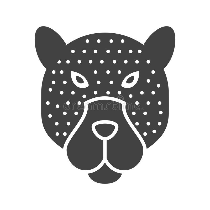 Visage de léopard illustration stock