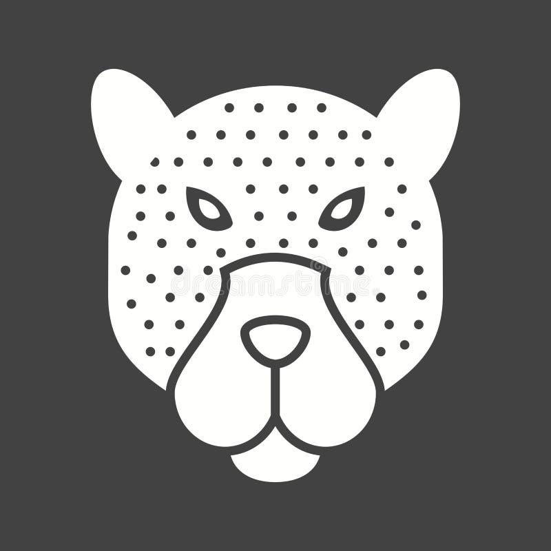 Visage de léopard illustration de vecteur