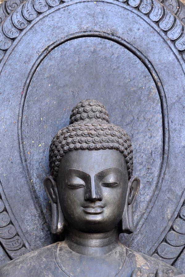 Visage de la religion de Bouddha image libre de droits