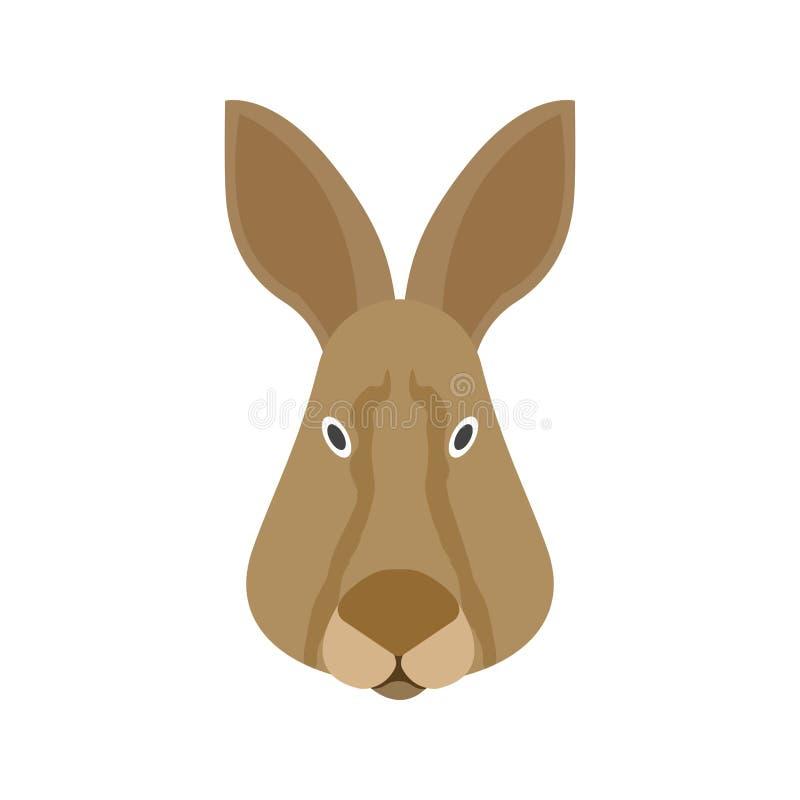Visage de lapin illustration libre de droits
