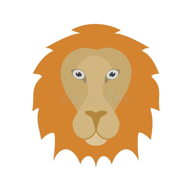 Visage de lion illustration libre de droits