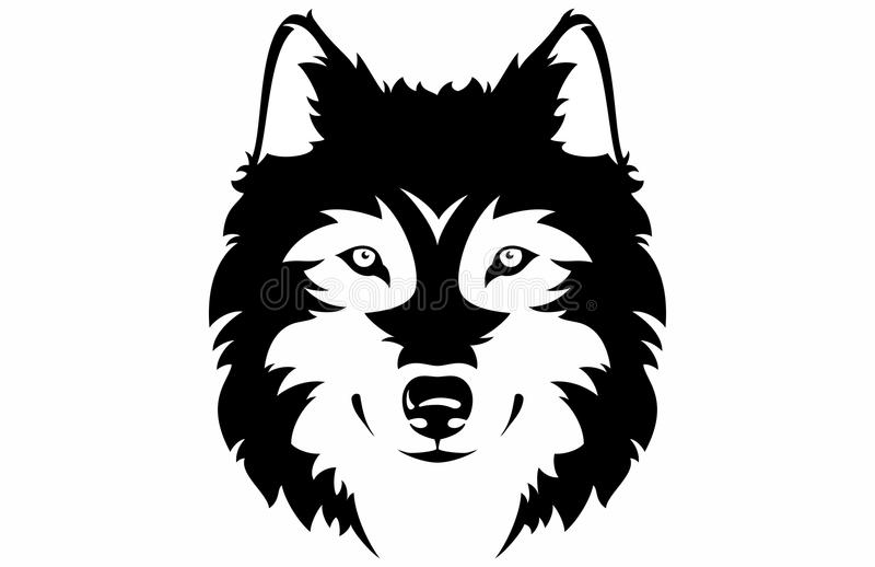 Visage de loup illustration stock