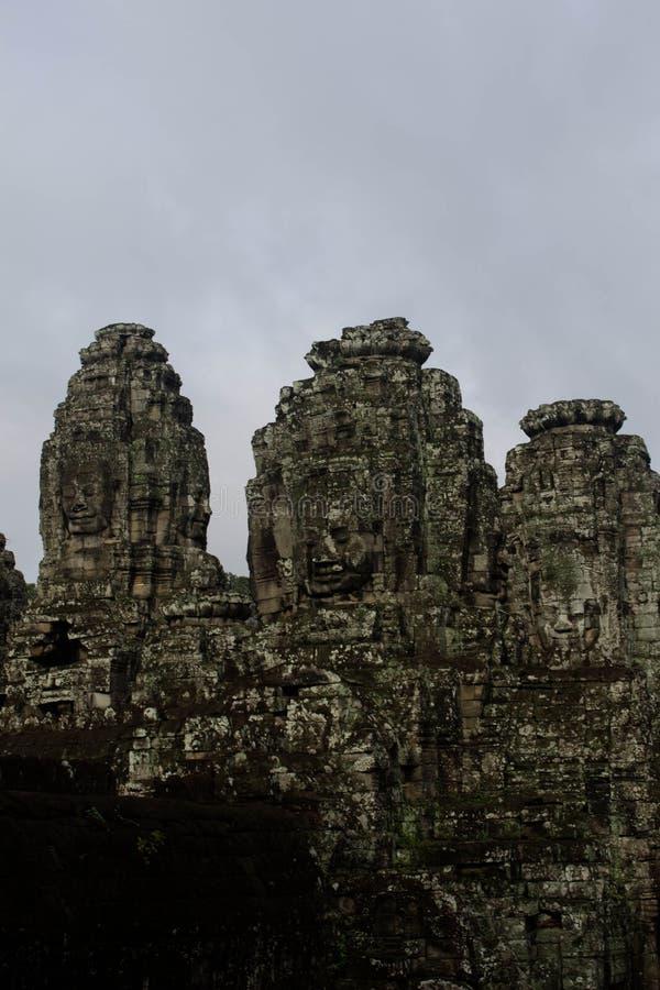 Visage de mystère à Angkor Thom images libres de droits