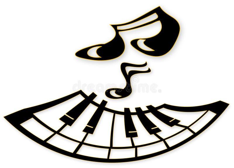 Visage de piano illustration de vecteur