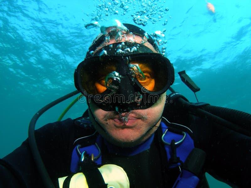 Visage de plongeurs photo stock