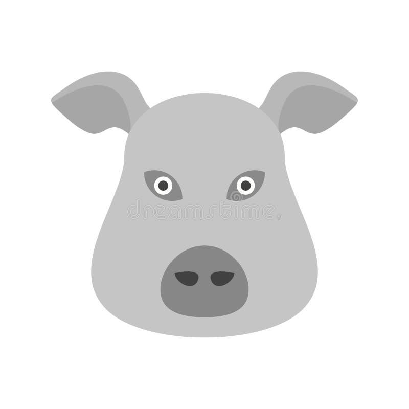 Visage de porc illustration de vecteur