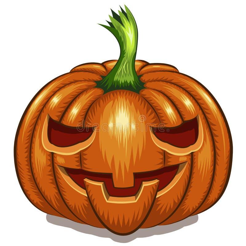 Download Visage De Potiron De Halloween Illustration de Vecteur - Illustration du abstrait, découpé: 77161569
