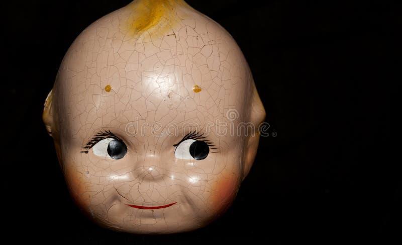 Visage de poupée de vintage images libres de droits