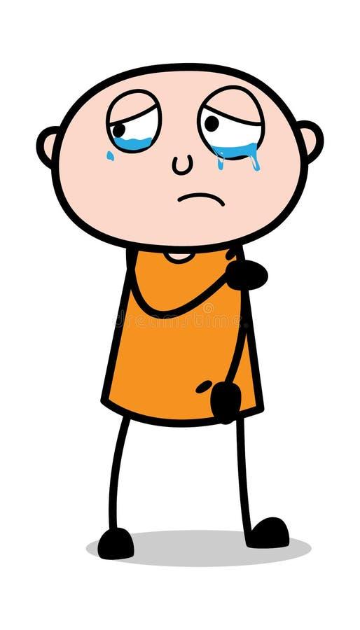Visage de renversement avec des yeux de larme - voleur Guy Vector Illustration criminel de bande dessin?e illustration stock