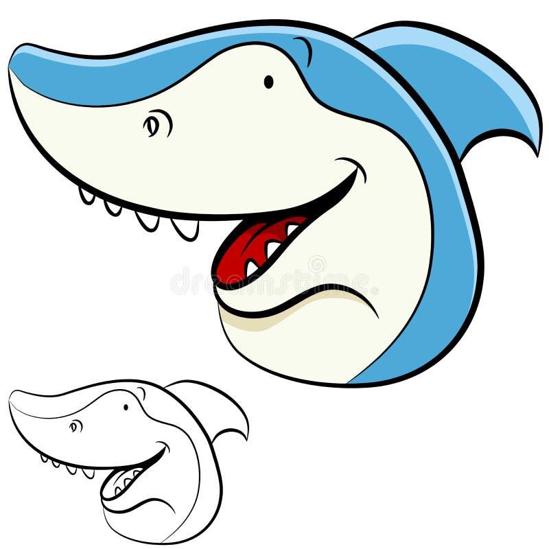 Visage de requin illustration stock