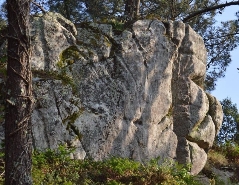 visage de roche photographie stock