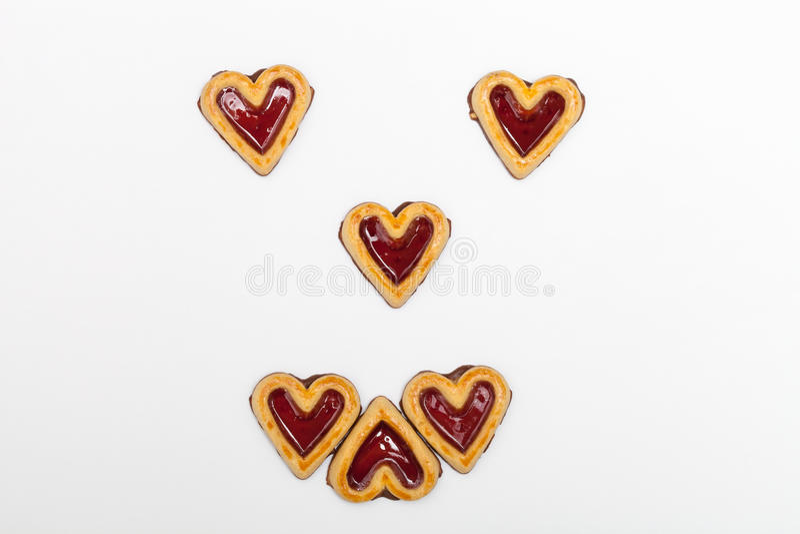 Visage de smiley de biscuit photo libre de droits