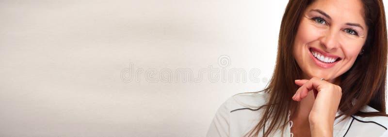 Visage de sourire de jeune femme photos libres de droits
