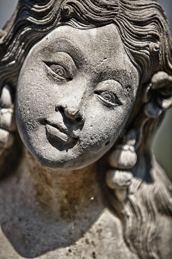 Visage de statue femelle image stock