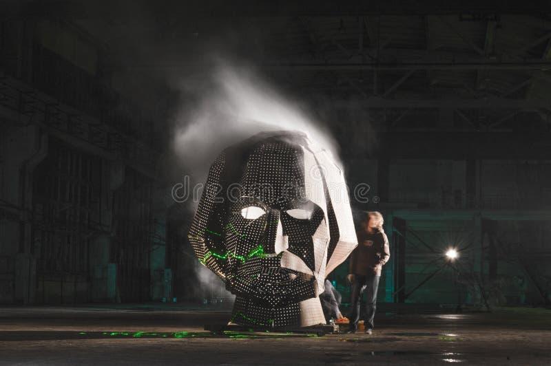 Visage de tabagisme de gogol de fest d'art principal de hangar photos stock