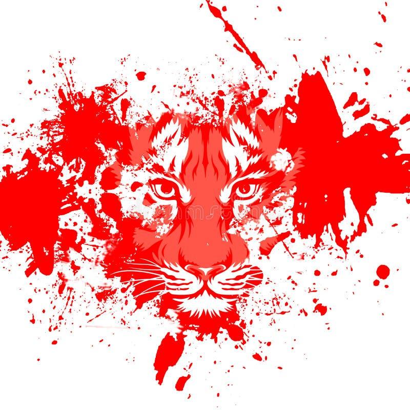 Visage de tigre d'Abstrect illustration de vecteur