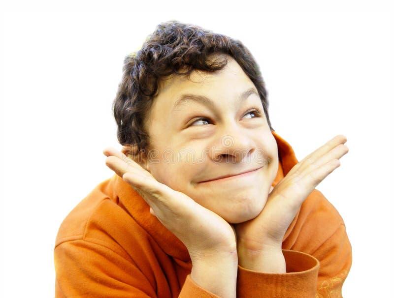 Visage drôle avec le grand nez photo stock