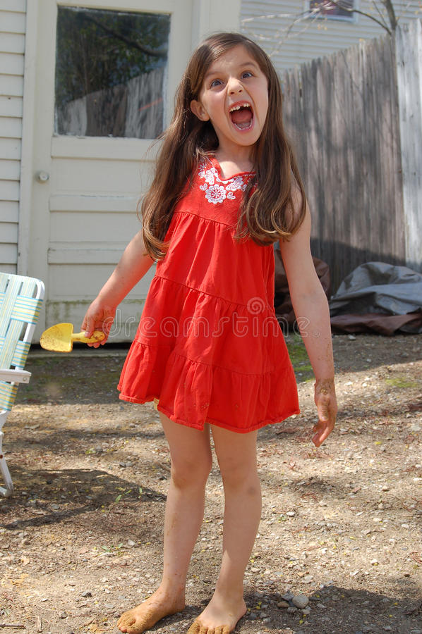 Visage drôle de jeune fille photos libres de droits