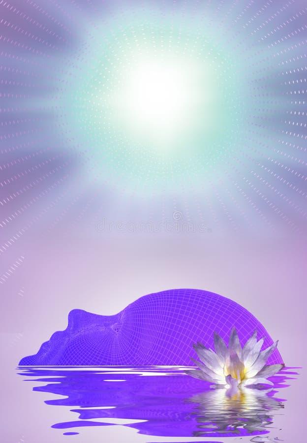 Visage du ` s de femme avec Lotus illustration libre de droits