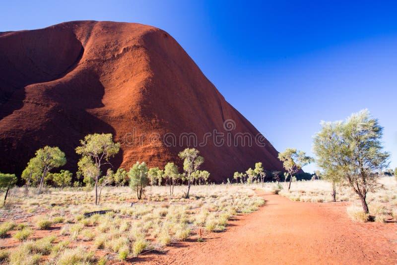 Visage du sud d'Uluru photos libres de droits
