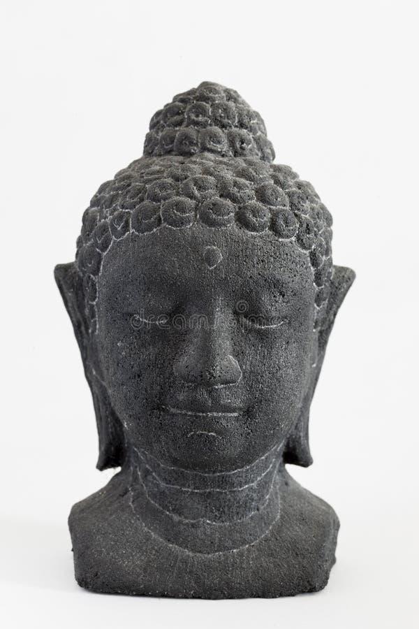Visage en pierre découpé de Bouddha image stock