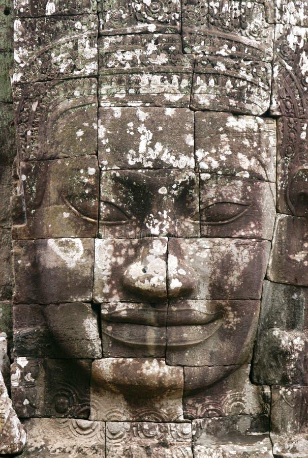 Visage en pierre d'Angkor photographie stock