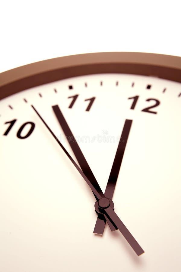 Visage et mains d'horloge analogiques image libre de droits