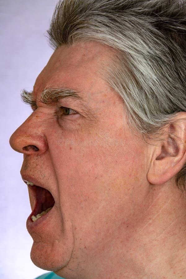 Visage, expressions du visage, sentiments, ?motions, autoportrait photo stock