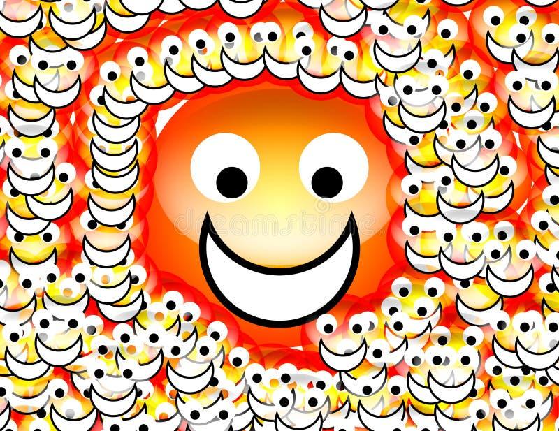 Visage heureux 9 illustration de vecteur