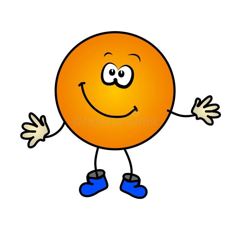 Visage heureux de smiley de dessin animé illustration de vecteur
