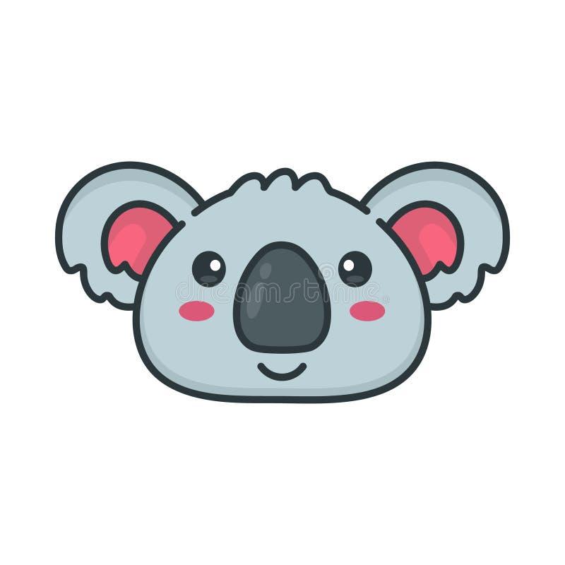 Visage heureux de sourire mignon d'ours de koala illustration stock