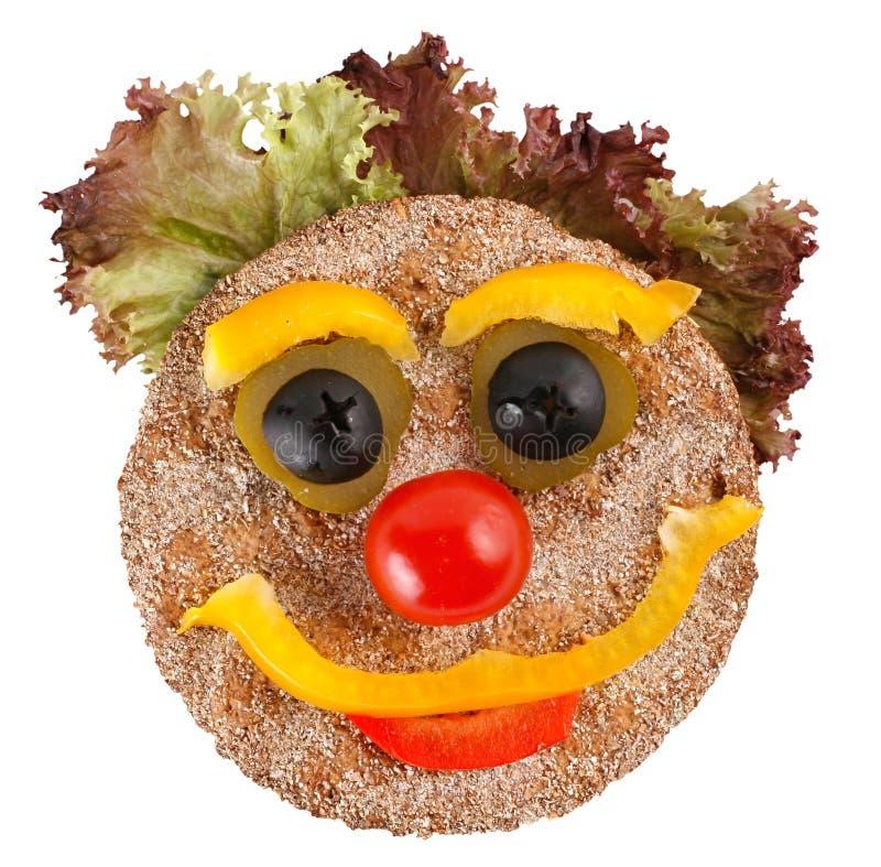 Visage heureux fait de légumes photo libre de droits