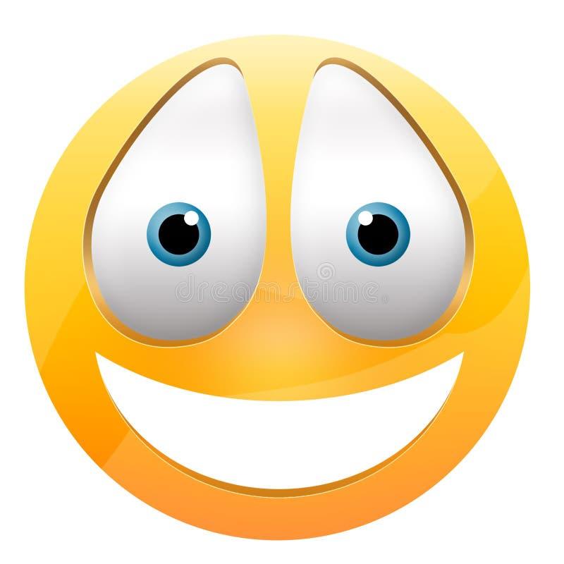 Visage heureux souriant illustration de vecteur
