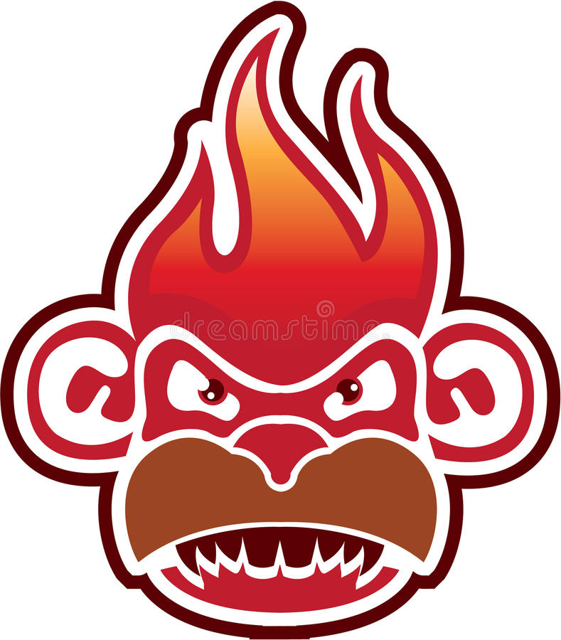 Visage Logo Vector de singe image stock