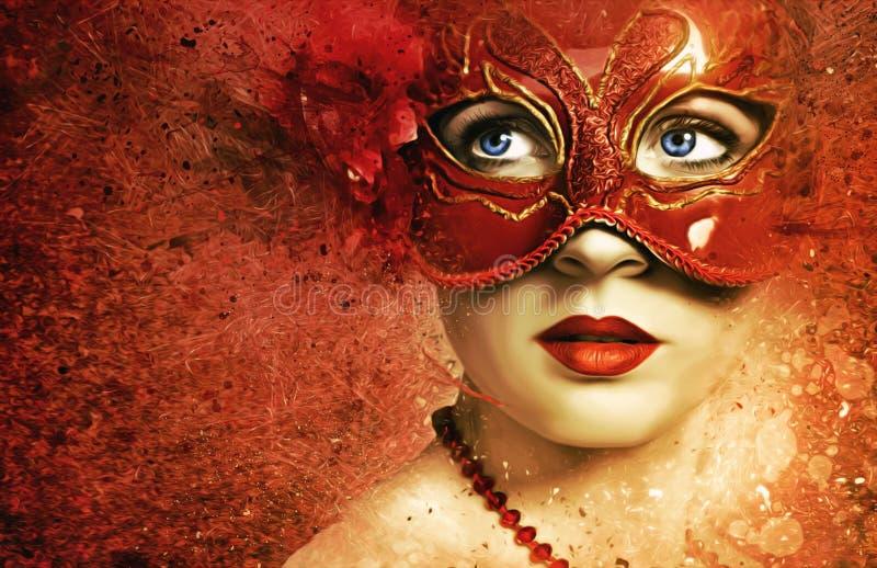 Visage, masque, fin, masque photos stock