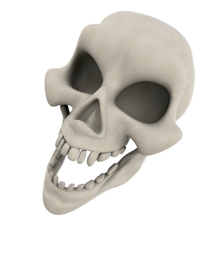 Visage mauvais de crâne illustration libre de droits