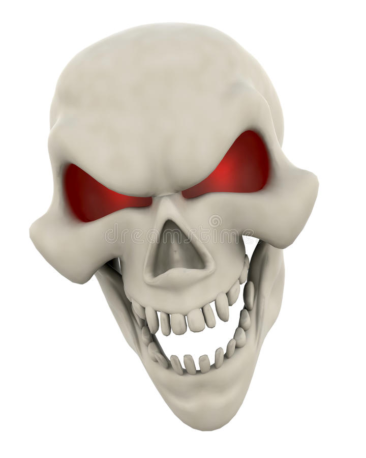 Visage mauvais de crâne illustration de vecteur